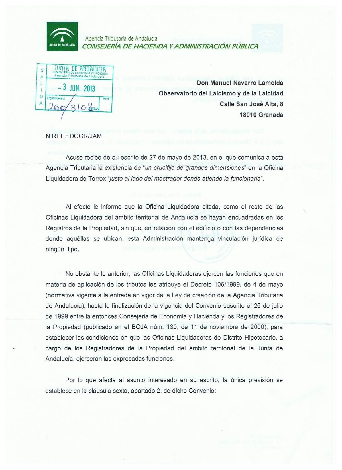 La junta de andaluc a se desentiende de los s mbolos en la for Oficinas del registro de la propiedad