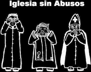 Cartel del colectivo Iglesia sin Abusos. REUTERS / STEPHAN WERMUTH // AP / AKIRA SUEMORI