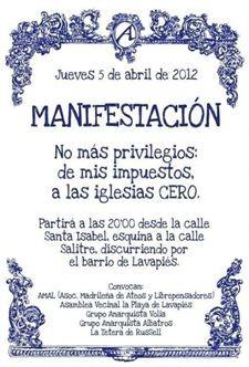 cartel manifestacion atea 2013