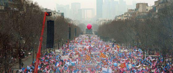 Mani anti matrimonio gay Paris 2013