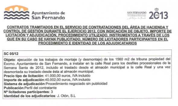 contrato-municipal tribuna Semana Santa San Fernando