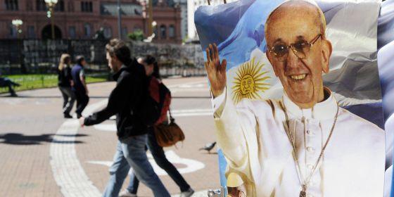 Bergoglio papa cartel Buenos Aires