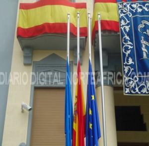 Melilla banderas media asta semana santa