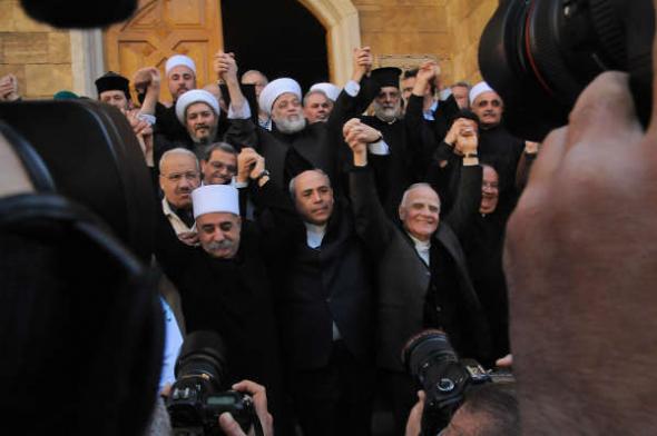 Líbano líderes religiosos por la paz