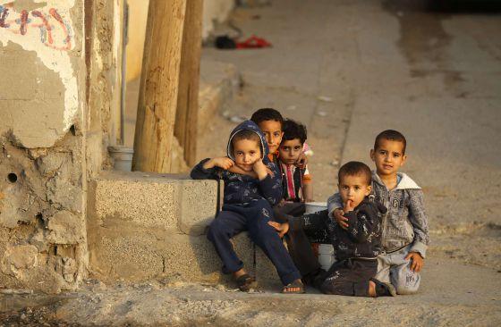 Niños palestinos Gaza