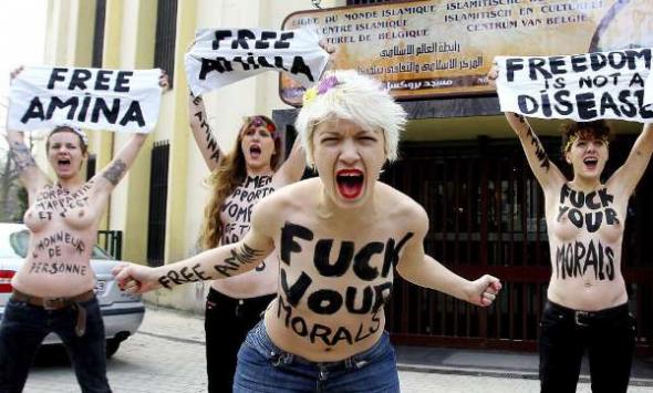 feministas liberación mujer Islam Bruselas 2013