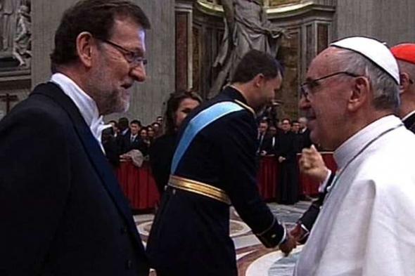 Bergoglio y Rajoy