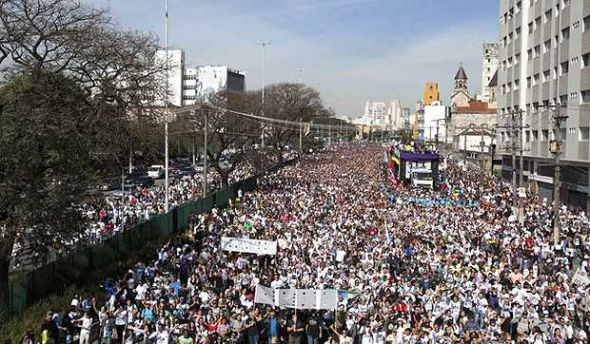 Marcha para Jesús evangelistas Sao Paulo 2012