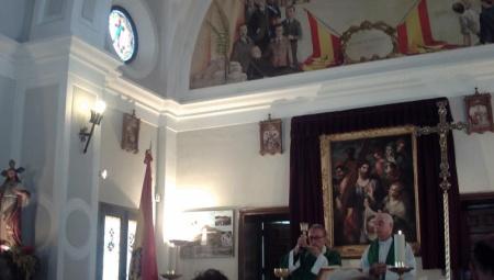 Misa bandera franquista Paracuellos