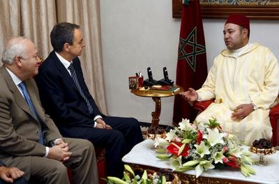 Zapatero y Mohammed VI Marruecos