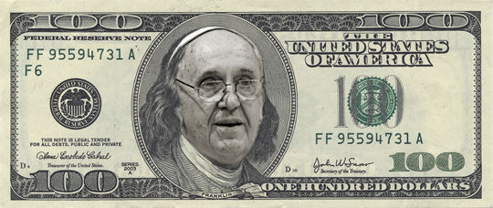 Bergoglio dolares