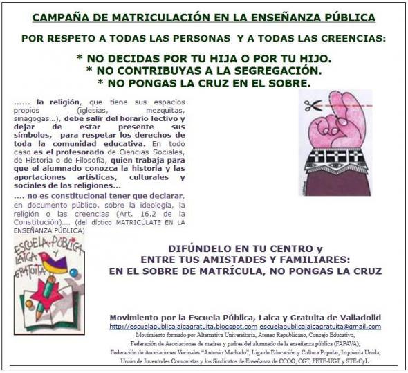 Matrícula escolar Valladolid
