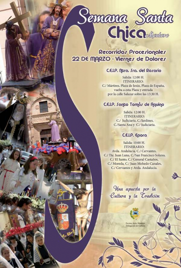 cartel semana santa colegios Montoro