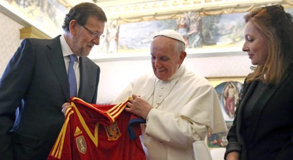 Rajoy y Bergoglio