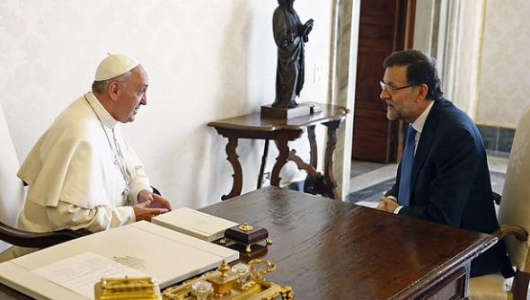Rajoy con Bergolgio 2013