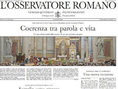 Rajoy opina en diario Vaticano