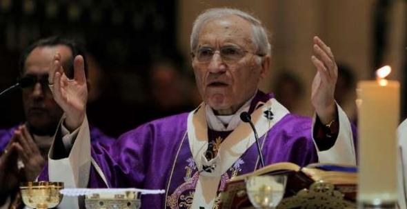Rouco Varela cardenal en misa