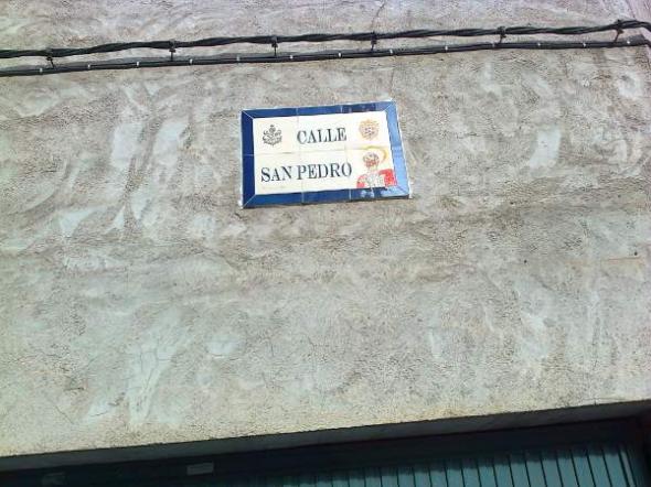 Alcantarilla calle S Pedro