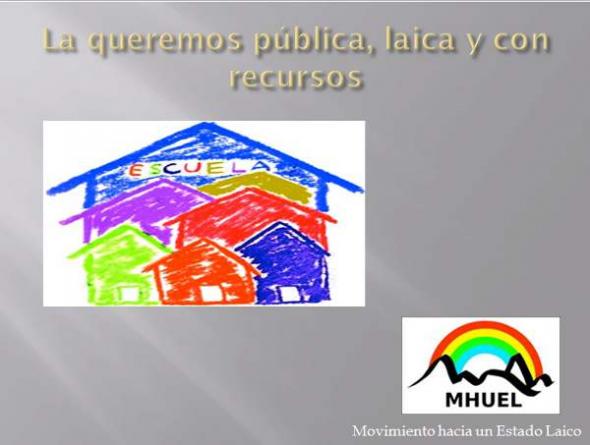 Escuela pública laica MHUEL 2013