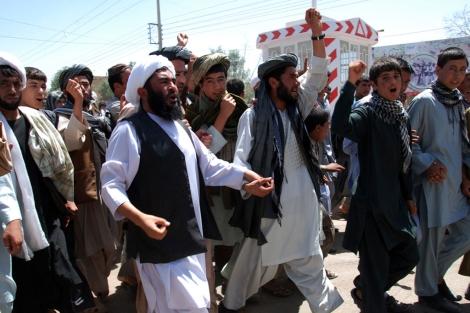 Manifestación de mulás Afganistán