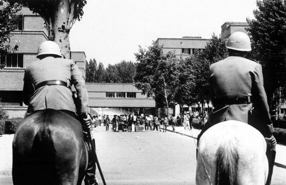 Policía en la Universidad 1968