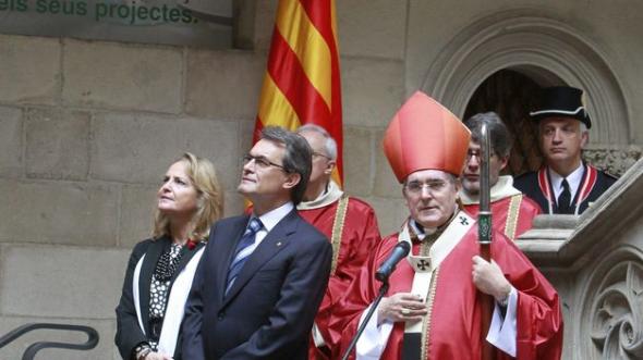 Artur Mas presidente Generalitat en misa 2012