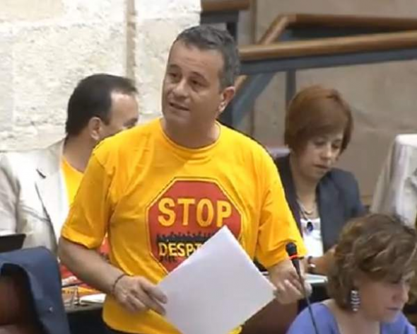 JA Castro Portavoz IU Parlamento Andalucía