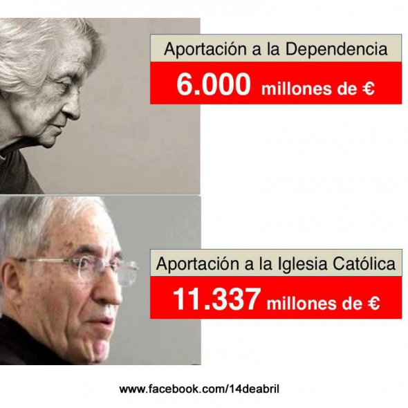 Financiación dependencia o iglesia