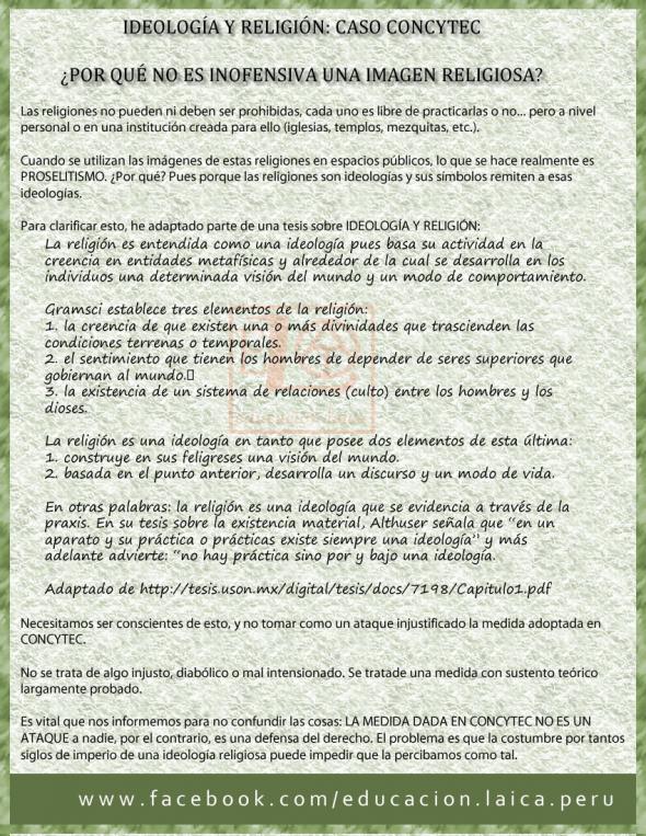 concytec Peru religiones