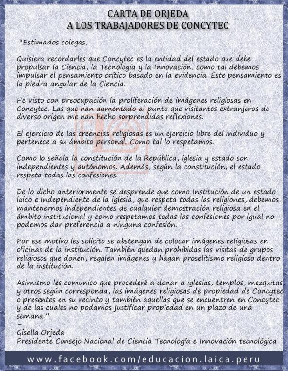 concytec Peru carta de orjeda