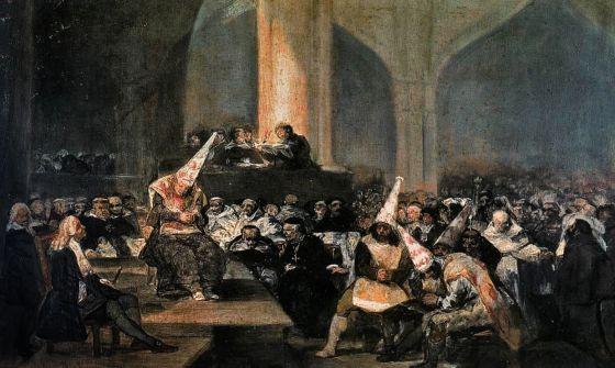 Auto de fe de la Inquisición. Goya