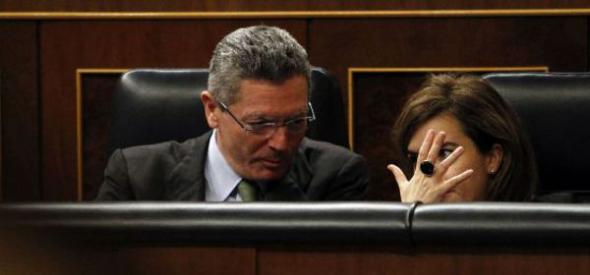 Gallardón y Santamaría ministros PP 2013