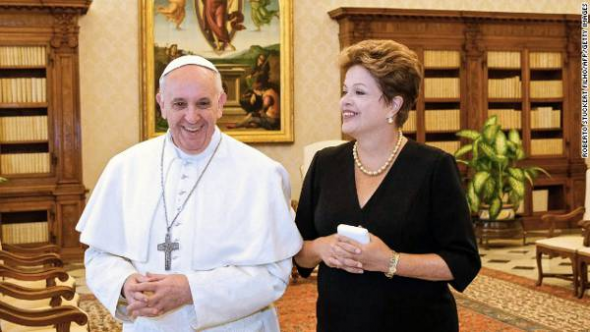 Dilma y Bergoglio