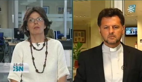 Teresa García en Canal Sur Financiación iglesia