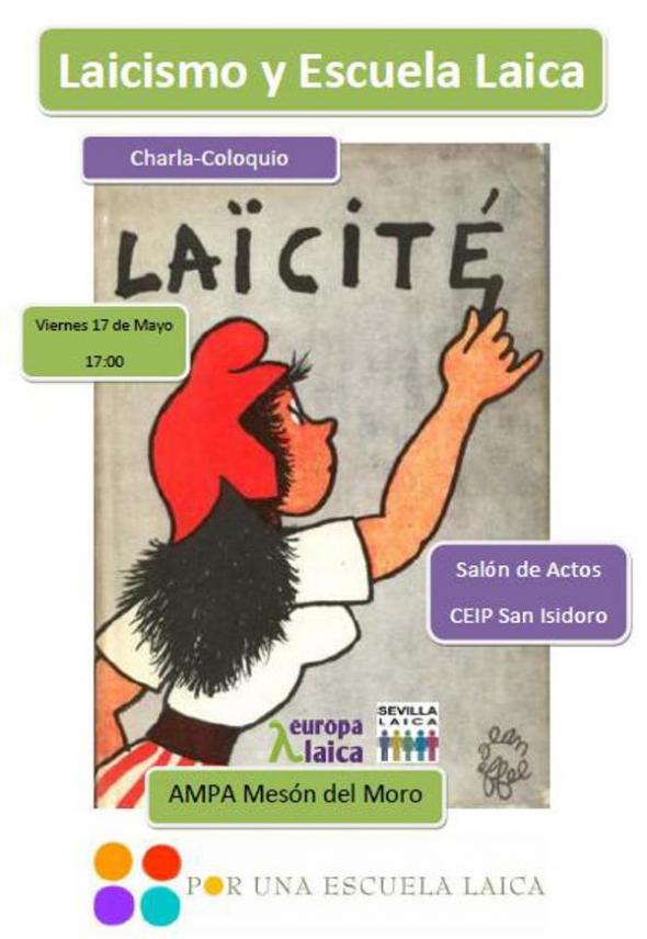 Cartel Escuela Laica Sevilla