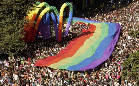Mani orgullo gay Sao Paulo Brasil