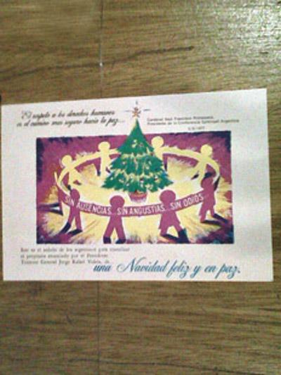 postal navideña Argentina