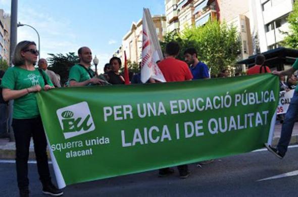 Mani escuela publica laica 9M Alicante