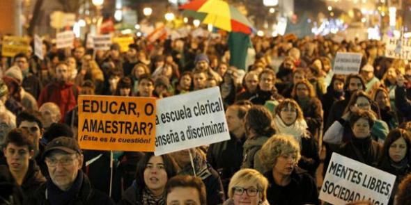 Mani anti LOMCE Madrid