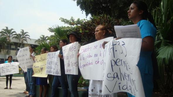 Mani mujeres El Salvador aborto