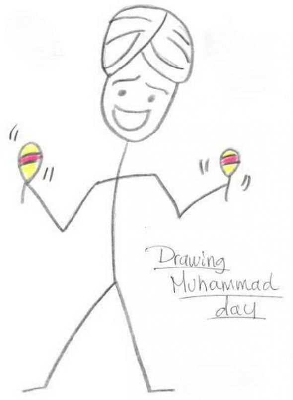 Mahoma con maracas