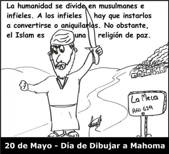 Mahoma dibujar