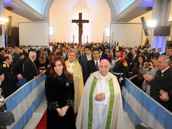 Te deum presidenta Argentina Bariloche 2012