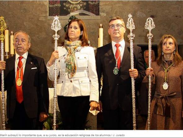 Consejero y Alcaldesa romeria Ciudad Real 2013