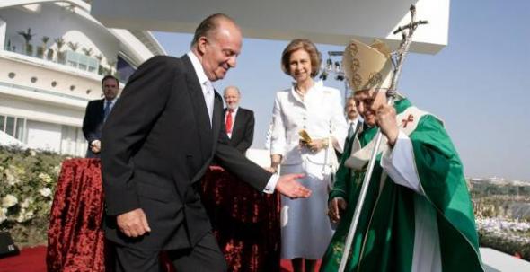 Ratzinger y reyes  Valencia 2006