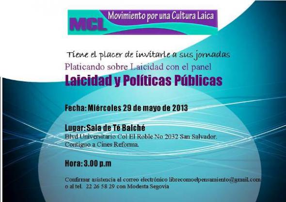 Laicidad y Políticas Públicas El Salvador 2013