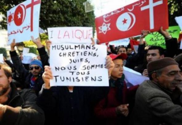 mani tunecinos laicidad