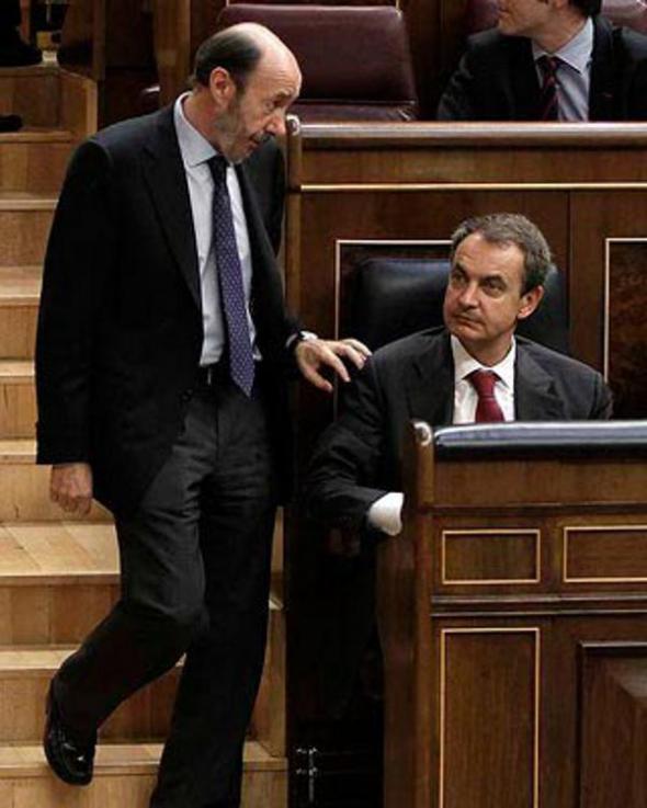 Rubalcaba y Zapatero 2011