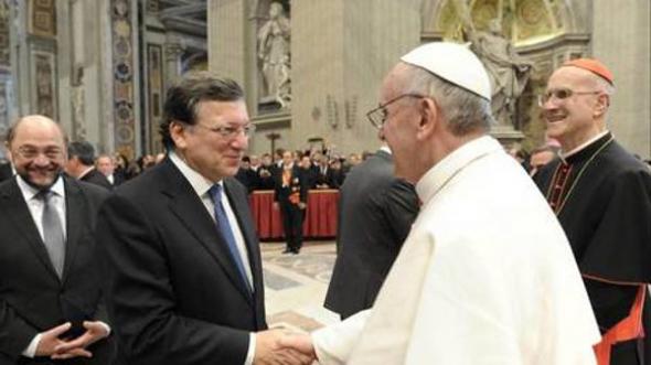 Barroso con Bergoglio