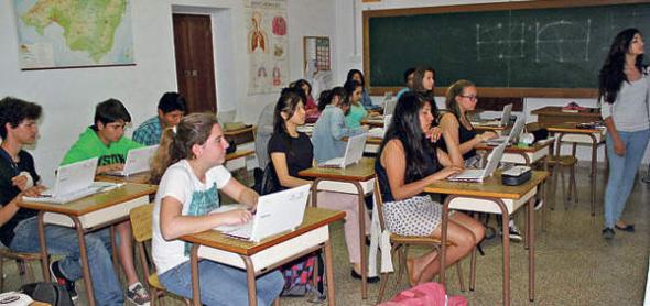 clase en un IES de Mallorca